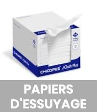 Papiers d'essuyage