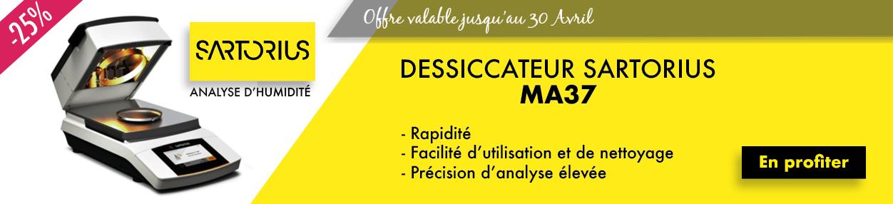 Promotion Dessiccateurs Sartorius MA37
